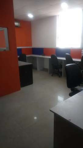 Cabin-1+work station-9 for rent on DND road