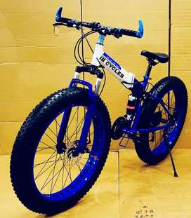 Fat tyre folding imported bicycle with 21 gear