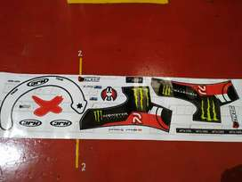Decal sticker helm HJC RPH Lorenzo