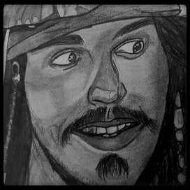 Sketch of Jack Sparrow