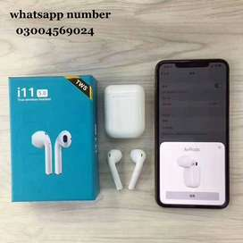 TWIN I11 With Sensors Touch And Window Wireless Earphone V5.0