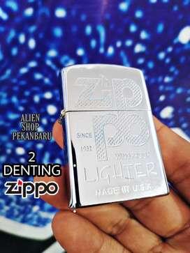 Korek api Zippo 2 DENTING PREMIUM silver chrome logo