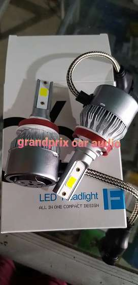1set lampu led h11 c6 putih 6000kelvin buat lampu foglamp