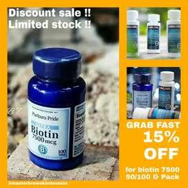 Biotin 7500 mcg Promo sale