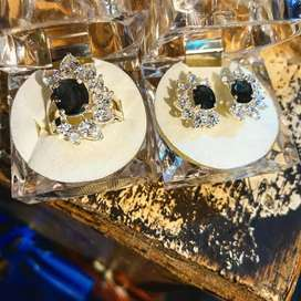 Silver(chandi) earrings and ring