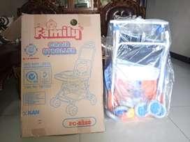 Chair Stroler FAMILY FC 8288 warna biru-orange