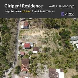 Tanah Kavling Pinggir jalan dekat jalan utama Wates Kulonprogo
