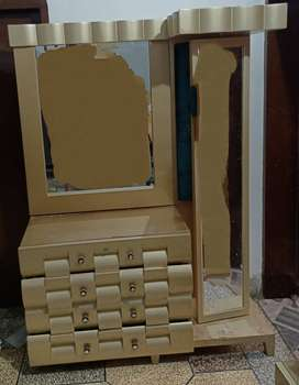 Golden colour dressing Table in Good Condition