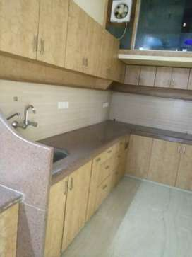 3 BHK semi furnished corner flat Park facing