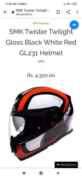 Smk twister helmet not used ,size-L