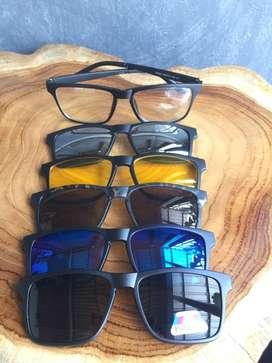 Kacamata Clip On 5 Lensa Fashion Olahraga