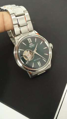 Only once wear Orient Automatic Open Heart Green Dial Luxury Watch