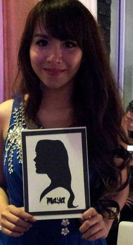 siluet wajah dan face painting