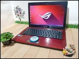 Laptop Asus K43S Core i7 Nvidia 630M Merah
