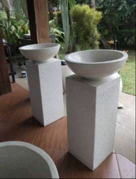 Washtafel model kaki cacah finishing Resin Bali
