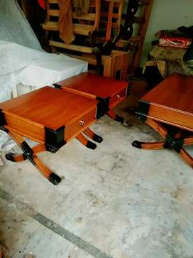 3 piece wooden table