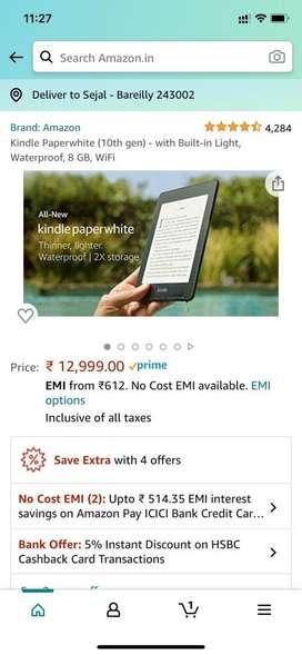 Kindle Paperwhite 10th Gen WiFi