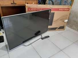 "TV LED POLYTRON  43"" FULL HD - DIGITAL Kondisi Normal Garansi"