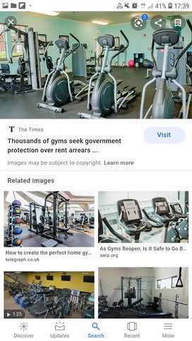 Full Gym equipments commercial set up /apartment/home