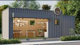 Container Office, restaurant, Café Customized Designs Available