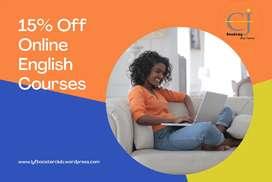 English Classes 15 % off