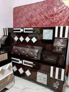 Box bed palang with mattress set