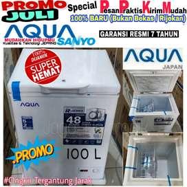 Freezer box Aqua Sanyo 100L low Watt baru