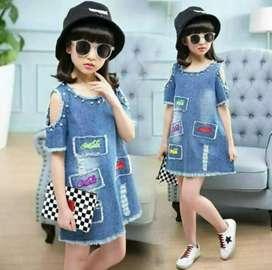 Dress Jeans Anak Perempuan Import