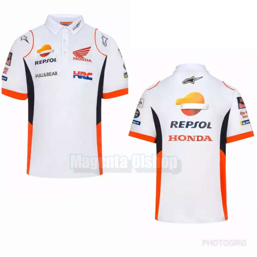 Kaos Polo Shirt Honda Repsol Racing Team Putih 0