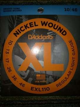 Free pik gitar Senar gitar listrik elektrik Daddario packed 09 010
