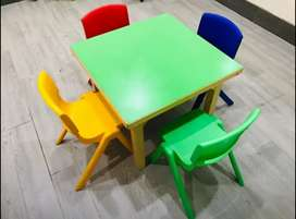 Kindergarten Table & Chairs For Kids