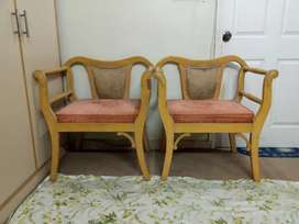 Wooden Sofa Set 2 Seater and 1 seater