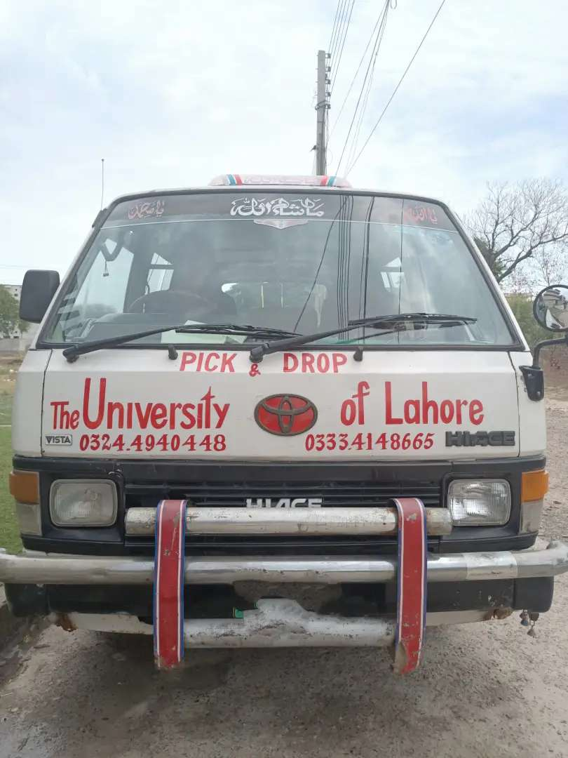 Toyota Hiace 1988 model registered in 2000 for sell 0