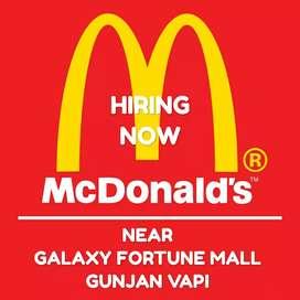 Requirement in Mc Donald