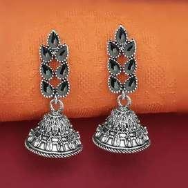 Oxidised Earrings-Below Rs. 100