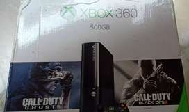 Xbox360 500gb with Kinect and four games
