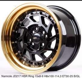 jual velg HSR ring 15 H4x100/4x114,3