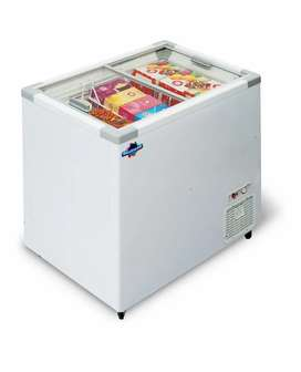 Rockwell 250 litres Deep Freezer with Curved Glass Ice Cream Parlour