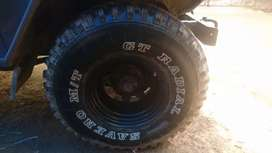 Jeep tyre with disc.