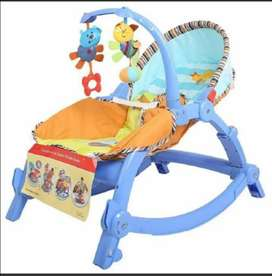 Kids multifunction vibration electric cot