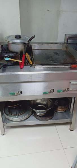 Stainless steal Grill with Hot plate
