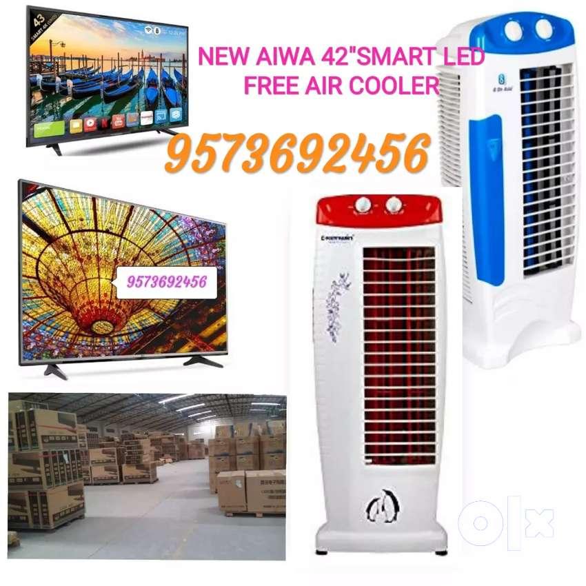 """NEW AIWA 42"""" SMART LED TV FREE AIR COOLER 0"""