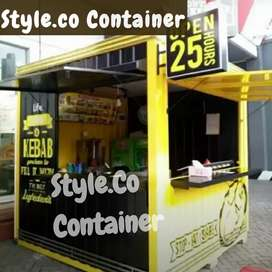 BOOTH SEMI CONTAINER | CONTAINER CAFE KEDAI | CONTAINER USAHA KULINER