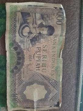 Di Jual Uang 1000 Rp Tahun 1958