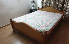 Sesame wood 5 years old Queen Size bed and mattress for sale INR 24000