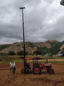 Tractor motor crane