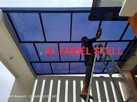 kanopi solarflat warna grey bronze dan clear harga murah tanpa dp boss