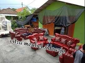 Sofa raja kancing minister dan bantal kursi