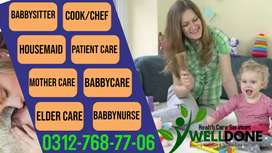 WELL DONE=HOUSEMAID & Patient Care available 24/7