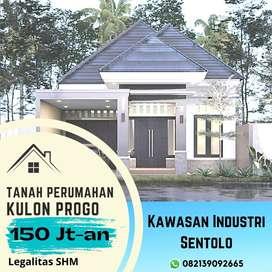 Bangun Rumah Hemat 100 Jt-an, Kavling Sentolo Kulon Progo: SHM